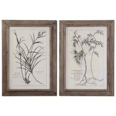 "Set of 2 Nature's Harmony 35"" High Uttermost Wall Art"