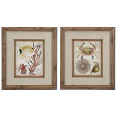 "Set of 2 Tropical Waters 32"" High Uttermost Wall Art"
