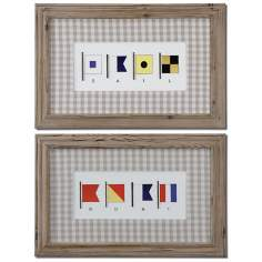 "Set of 2 Signal Flags 30"" Wide Uttermost Wall Art"