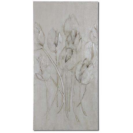 "Uttermost Moonlight Tulips 48"" High Floral Wall Art"