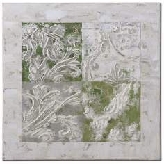 "Uttermost Interlocked Elements 32"" W Hand-Painted Wall Art"