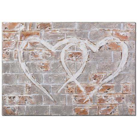 "Uttermost Hearts of the City 40"" Wide Hand-Painted Wall Art"