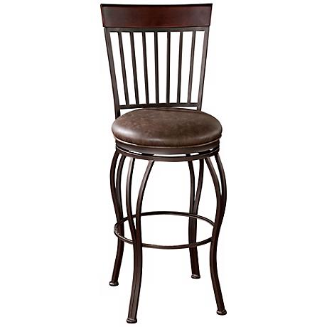 "American Heritage Torrance 30"" Coco Brown Bar Stool"