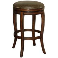 "American Heritage Wilmington 34"" Coco Leather Tall Bar Stool"