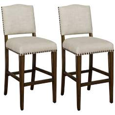 "Set of 2 American Heritage Worthington 34"" Tall Bar Stools"