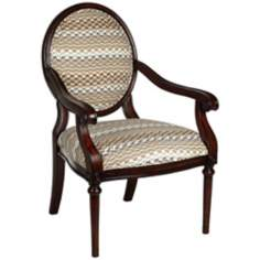 Zig Zag Dark Cherry Accent Chair