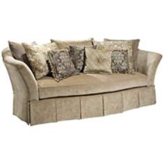 Haven Plush Lagoon Velvet Sofa