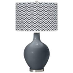 Turbulence Narrow Zig Zag Ovo Table Lamp