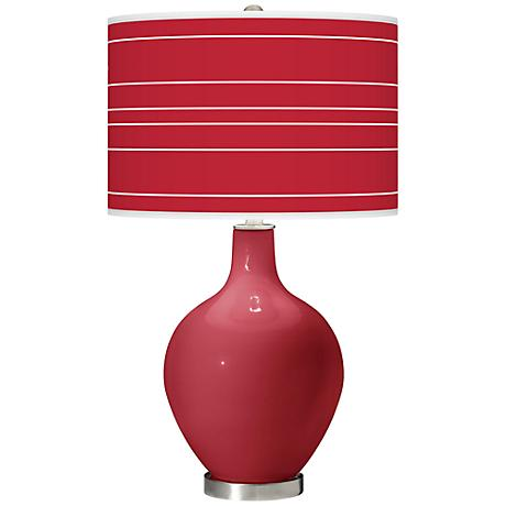 Samba Bold Stripe Ovo Table Lamp