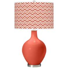Koi Narrow Zig Zag Ovo Table Lamp