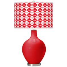 Coca-Cola® Diamond Ovo Table Lamp
