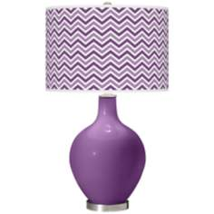 Passionate Purple Narrow Zig Zag Ovo Table Lamp