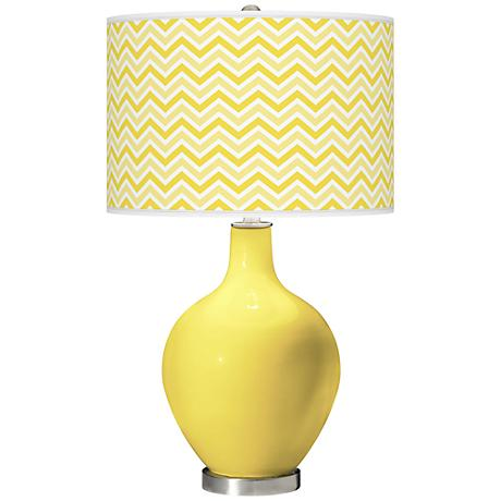 Lemon Twist Narrow Zig Zag Ovo Table Lamp