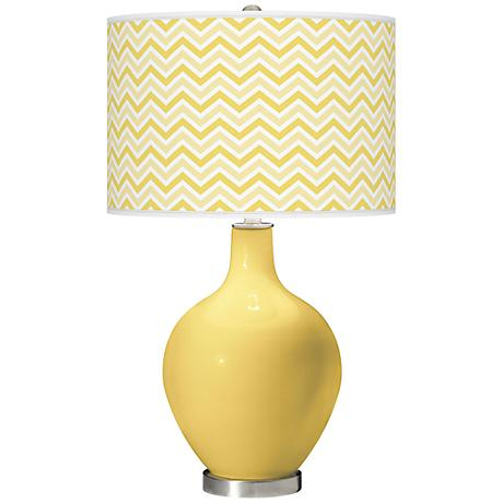 Daffodil Narrow Zig Zag Ovo Table Lamp
