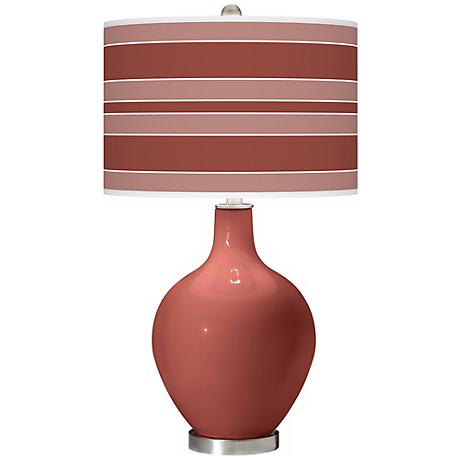 Brick Paver Bold Stripe Ovo Table Lamp