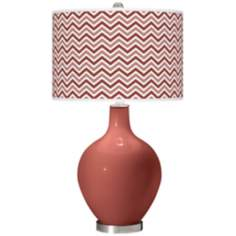 Brick Paver Narrow Zig Zag Ovo Table Lamp
