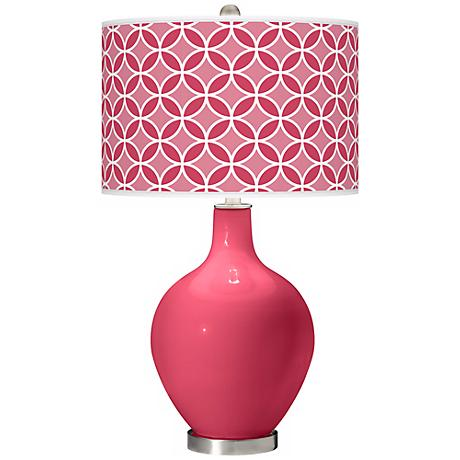 Eros Pink Circle Rings Ovo Table Lamp