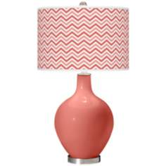 Coral Reef Narrow Zig Zag Ovo Table Lamp