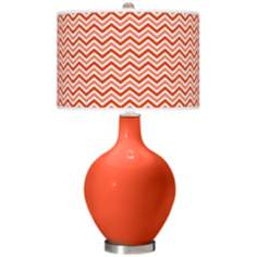 Daredevil Narrow Zig Zag Ovo Table Lamp