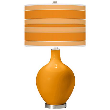 Carnival Bold Stripe Ovo Table Lamp