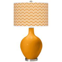 Carnival Narrow Zig Zag Ovo Table Lamp