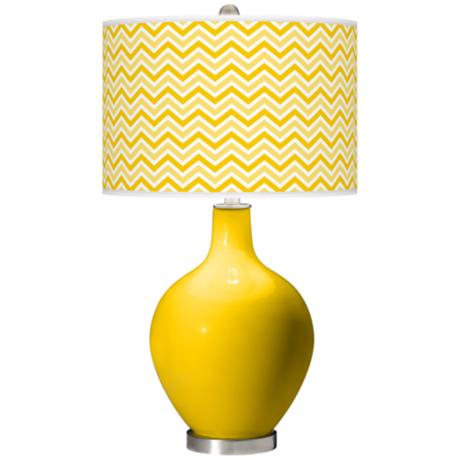 Citrus Narrow Zig Zag Ovo Table Lamp