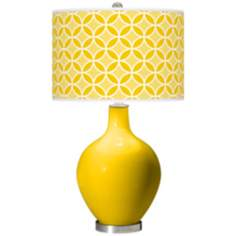 Citrus Circle Rings Ovo Table Lamp
