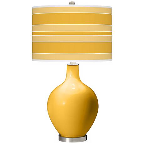 Goldenrod Bold Stripe Ovo Table Lamp