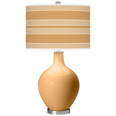 Harvest Gold Bold Stripe Ovo Table Lamp