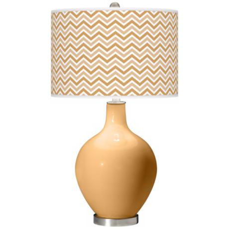 Harvest Gold Narrow Zig Zag Ovo Table Lamp