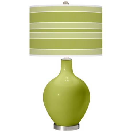 Parakeet Bold Stripe Ovo Table Lamp