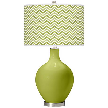 Parakeet Narrow Zig Zag Ovo Table Lamp