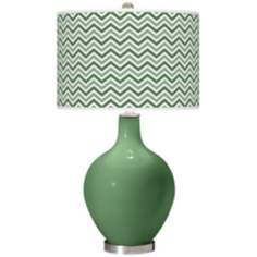 Garden Grove Narrow Zig Zag Ovo Table Lamp