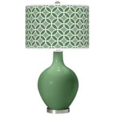Garden Grove Circle Rings Ovo Table Lamp