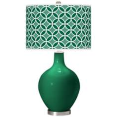 Greens Circle Rings Ovo Table Lamp