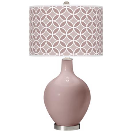Dressy Rose Circle Rings Ovo Table Lamp