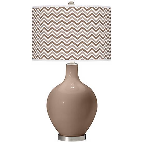 Mocha Narrow Zig Zag Ovo Table Lamp