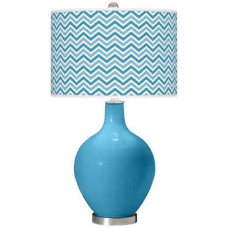 Jamaica Bay Narrow Zig Zag Ovo Table Lamp