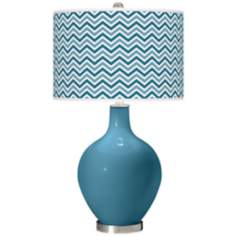 Great Falls Narrow Zig Zag Ovo Table Lamp