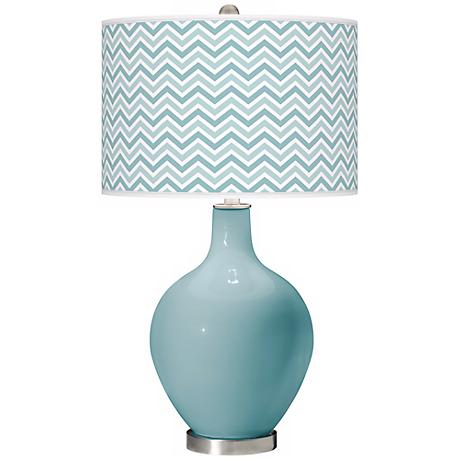 Raindrop Narrow Zig Zag Ovo Table Lamp