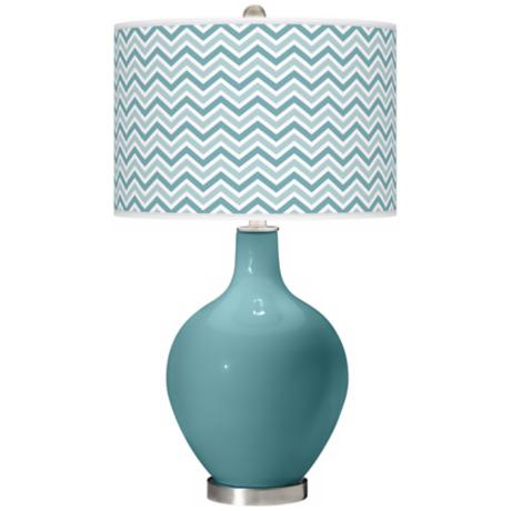 Reflecting Pool Narrow Zig Zag Ovo Table Lamp