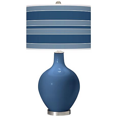 Regatta Blue Bold Stripe Ovo Table Lamp