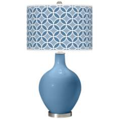 Secure Blue Circle Rings Ovo Table Lamp