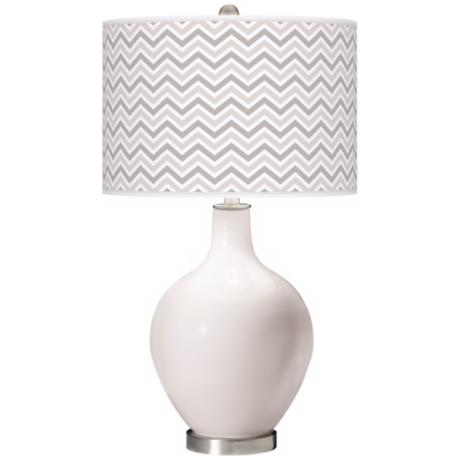 Smart White Narrow Zig Zag Ovo Table Lamp