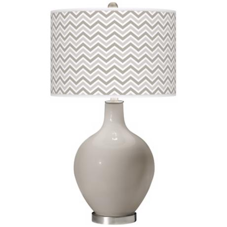 Requisite Gray Narrow Zig Zag Ovo Table Lamp