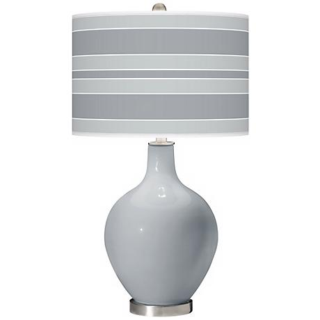 Uncertain Gray Bold Stripe Ovo Table Lamp