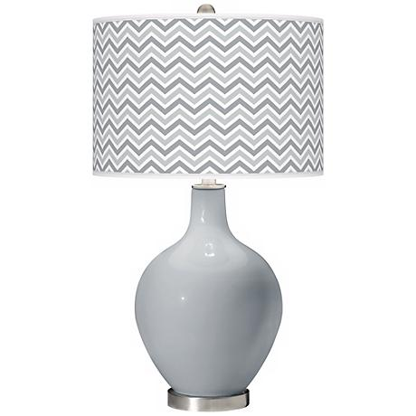 Uncertain Gray Narrow Zig Zag Ovo Table Lamp
