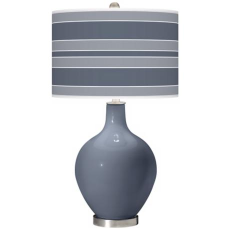 Granite Peak Bold Stripe Ovo Table Lamp