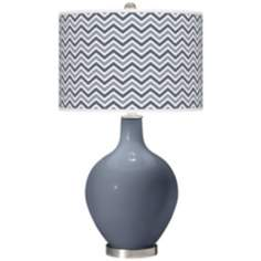Granite Peak Narrow Zig Zag Ovo Table Lamp