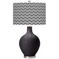 Tricorn Black Narrow Zig Zag Ovo Table Lamp